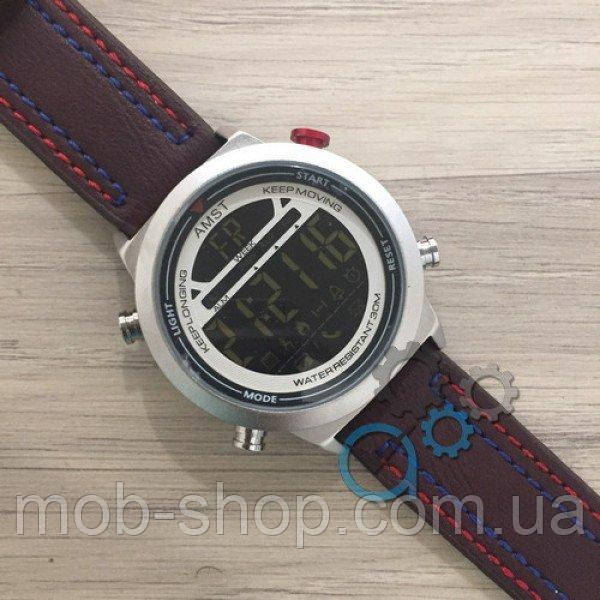 AMST 3017 Silver-White Red-Blue Brown Wristband 0970816242