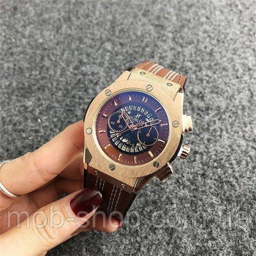 Наручные часы Hublot 6101 Brown-Gold-Brown