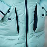 """Практичная водонепроницаемая зимняя куртка для девочки""""Кнопки""""3853-4, фото 4"""