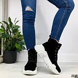 ТОЛЬКО на 23 см! Женские осенние ботинки черные натуральная замша, фото 4