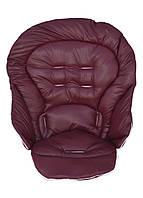 Чехол DavLu к стульчику для кормления Chicco Polly Magic 3 в 1 бордовый под экокожу (Ch-ob-201), фото 1