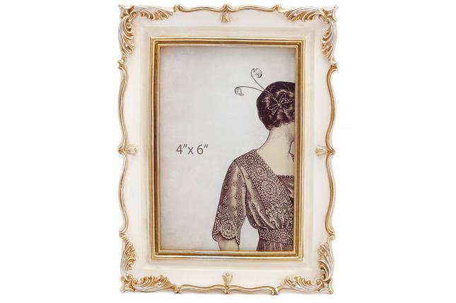 Рамка для фото Тулуза, 20.5см, цвет - слоновая кость с золотом, полистоун (450-179), фото 2