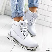 Ботинки женские Trend белые 8727 ЗИМА