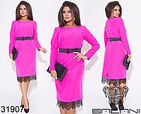 Нарядное платье в большом размере ( малиновый ) Размеры: 48,50,52,54,56,58,60,62