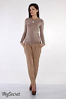 """Стильные брюки для беременных """"Dakota"""", бежевые"""
