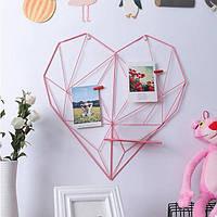 Настенный органайзер Мудборд (moodboard) Сердце розовый