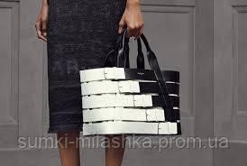 купить черную белую сумку из кожи недорого в интернете украина