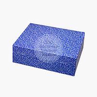 Упаковка для 6 кексов и маффинов - Синяя новогодняя - 255х180х90 мм