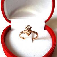 Кольцо(16.5) золотое, прошлый век, проба 585 (заводское 2.34грамма), с фианитом