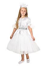Дитячий карнавальний маскарадний костюм Сніжинка Біла заметіль зростання:110-134 см