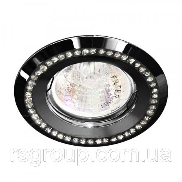 Встраиваемый светильник Feron DL103-BK прозрачный черный