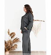 / Размер 48-50 / Женский костюм двойка из мягкой, приятной ткани 725-1-Серый, фото 2