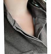 / Размер 48-50 / Женский костюм двойка из мягкой, приятной ткани 725-1-Серый, фото 4