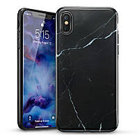 Чехол ESR для iPhone XS/X Marble Slim, Black (4894240054697), фото 1