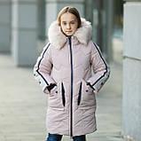 """Практичная водонепроницаемая зимняя куртка для девочки""""Кнопки""""3853-4, фото 5"""