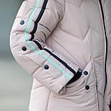 """Практичная водонепроницаемая зимняя куртка для девочки""""Кнопки""""3853-4, фото 6"""