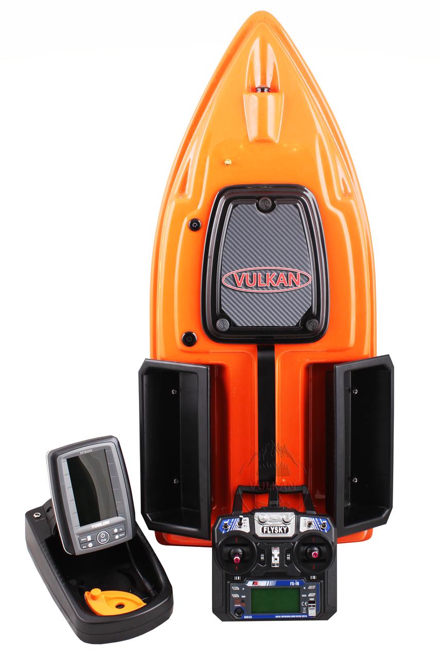 Кораблик прикормочный VULKAN с автопилотом и эхолотом Toslon TF-500