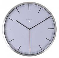 """Годинники настінні """"Сомрапу-stripe"""", білі Ø35 см, фото 1"""