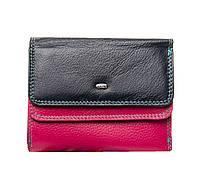 Женский кожаный кошелек 13,5*10,5*3 фиолетовый, фото 1
