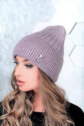 Женская шапка Flirt Сонг One Size сиреневая, фото 2