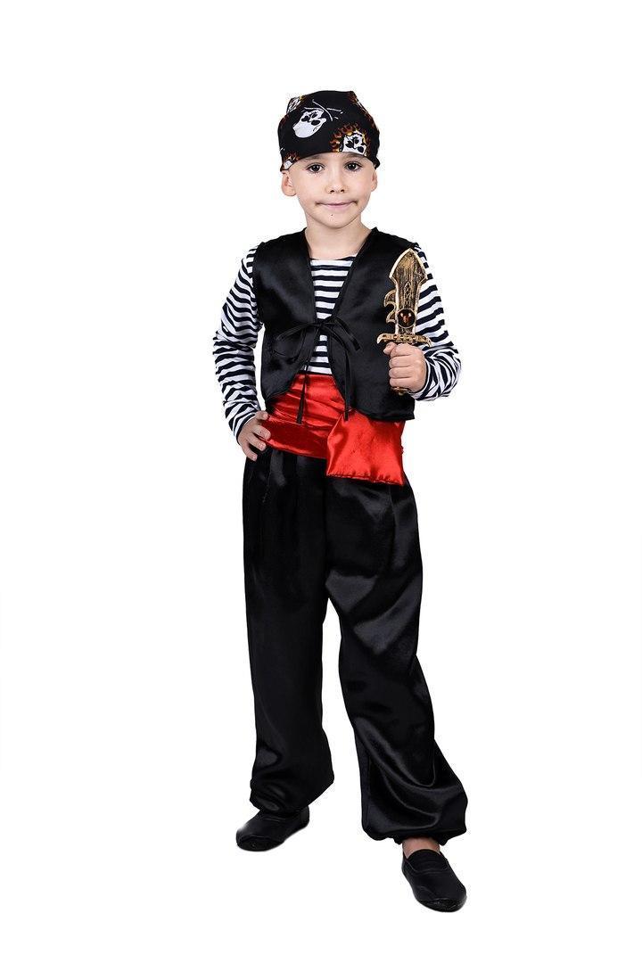 Детский карнавальный маскарадный костюм Разбойник рост:110-134 см