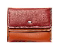 Женский кожаный кошелек 13,5*10,5*3 красный, фото 1