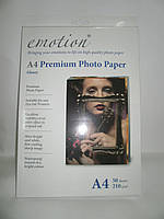 Для печати EMOTION Premium Photo Paper A4 210g 50 pack Glossy