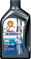 Shell Advance 4T Ultra 10W-40 Моторное масло для мототехники, 1 л