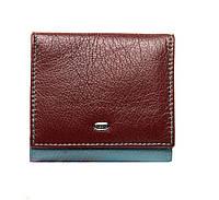Женский кожаный кошелек 10*9,5*2,5 бордовый, фото 1