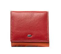Женский кожаный кошелек 10*9,5*2,5 красный, фото 1