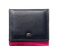 Женский кожаный кошелек 10*9,5*2,5 фиолетовый, фото 1
