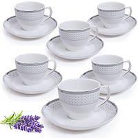 Сервиз чайный 12пр (6чашек 200мл, 6блюдец 14см) HH18001 (8наб) Н