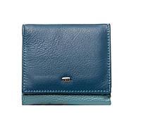 Женский кожаный кошелек 10*9,5*2,5 синий, фото 1