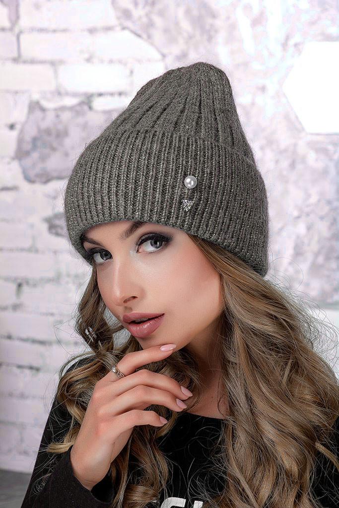 Женская шапка Flirt Сонг One Size бежевая