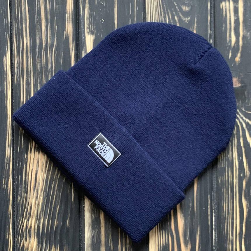 Мужская шапка The North Face синяя, TNF,  зимняя, фото 2