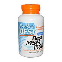 Хондропротектор Doctors BEST Best MSM 1500 120 tabs для суставов и связок
