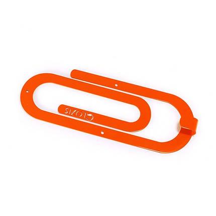 Вешалка настенная Glozis Clip Orange, фото 2