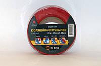 Ізоляційна стрічка ПВХ 20м х 19мм х 0,13мм  ELCOR червона