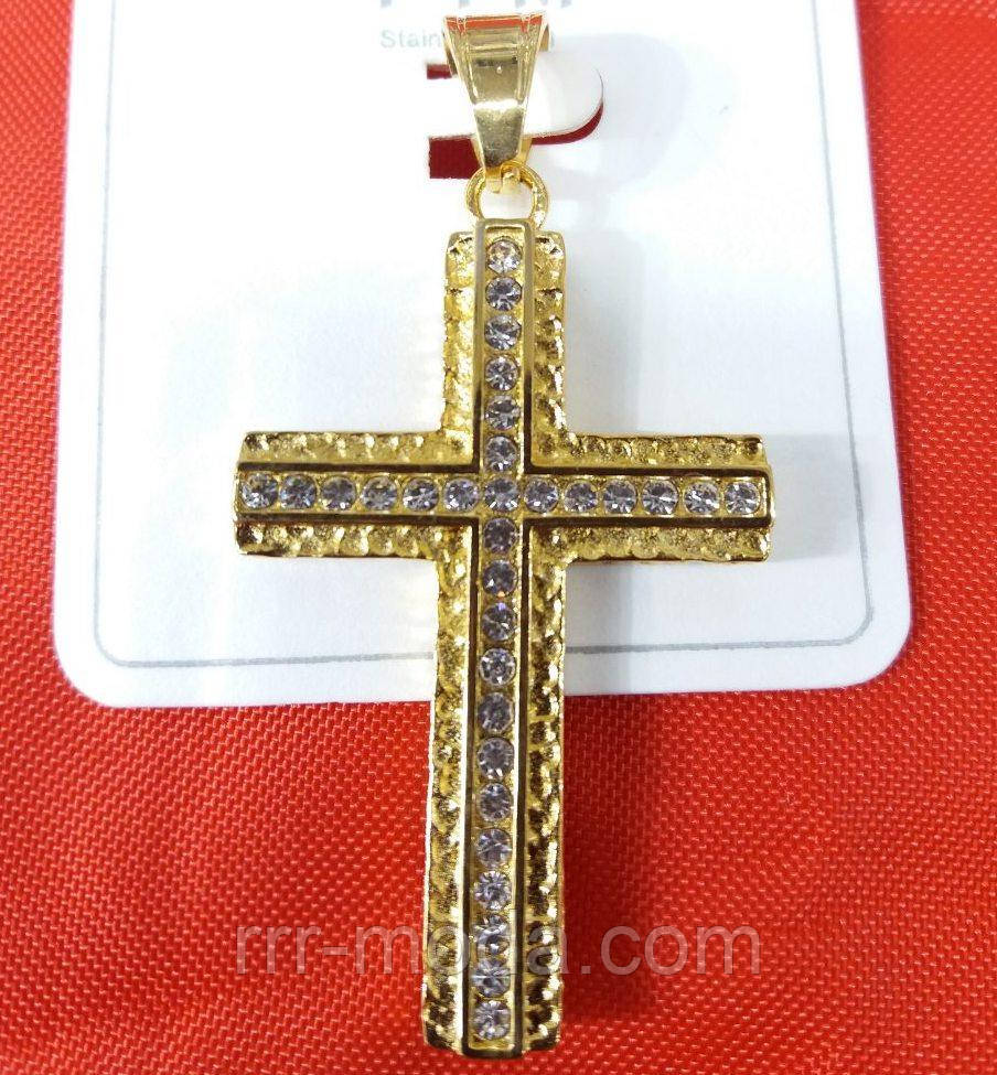 Кулоны кресты ладанки - кулоны оптом. Позолоченный (мед золото) кулон 478