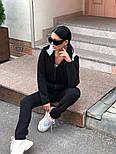 Женский теплый комбинезон на флисе с капюшоном (в расцветках), фото 5