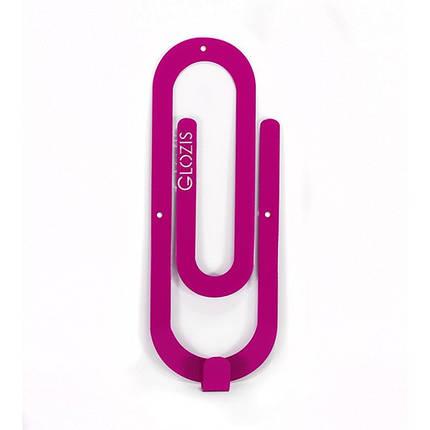 Вешалка настенная Glozis Clip Purple, фото 2