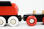 Железная дорога BRIO Деревянная ж/д с краном, 18 элементов 33010, фото 3