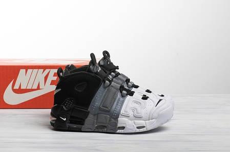 Мужские кроссовки в стиле Nike Air More Uptempo Tri-Color, фото 2