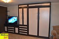 Встроенная в шкаф кровать (трансформер)  с тумбой под телевизор, фото 1