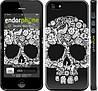 "Чехол на iPhone 5 Череп с цветами ""2864c-18"""