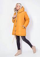 Суперстильная двухсторонняя демисезонная куртка 54824 (42–46р) в расцветках
