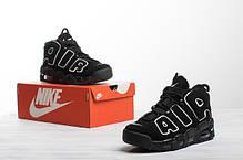 Мужские кроссовки в стиле Nike Air More Uptempo Black/White, фото 2