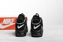 Мужские кроссовки в стиле Nike Air More Uptempo Black/White, фото 3