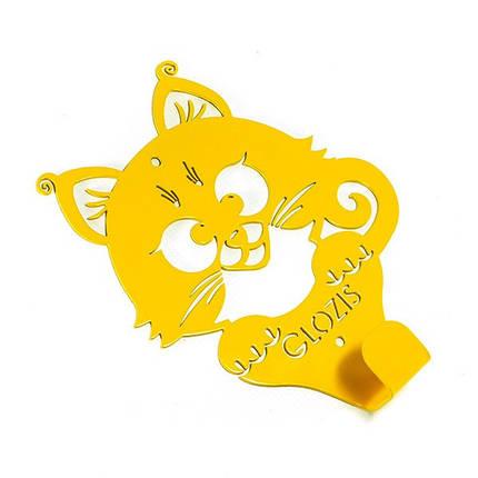Вешалка настенная Glozis Kitty Yellow, фото 2