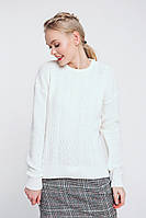 Джемпер женский вязка, круглая горловина, подойдет к любому стилю в одежде, размер 42-48, код 5548М